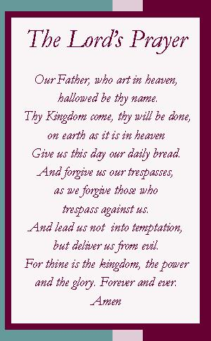 Insane image for printable lords prayer
