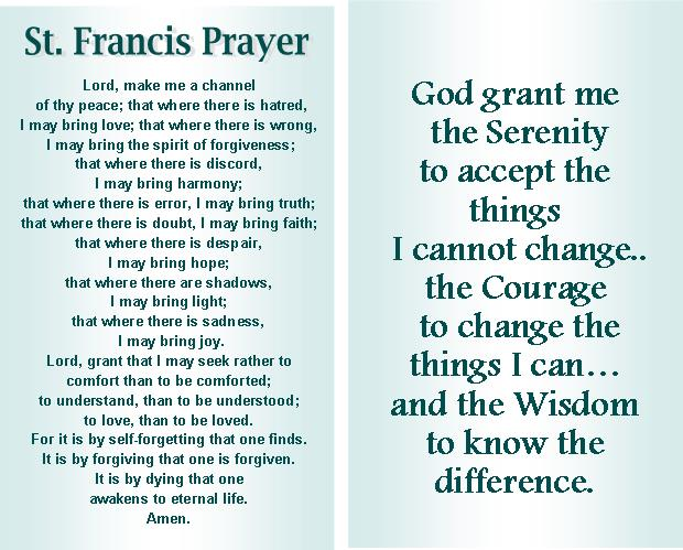 photograph regarding St Francis Prayer Printable called Totally refreshing St Francis Prayer Aa #BT68